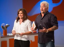Rachael Ray and Guy Fieri on 'Rachael vs Guy: Kids Cook-Off'