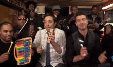 Jimmy Fallon, Robin Thicke and The Roots Sing Blurred Lines