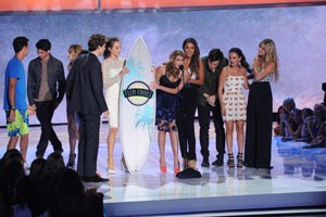 The cast of 'Pretty Little Liars' at the 2013 Teen Choice Awards