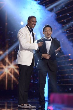 Nick Cannon and 'America's Got Talent' winner Kenichi Ebina