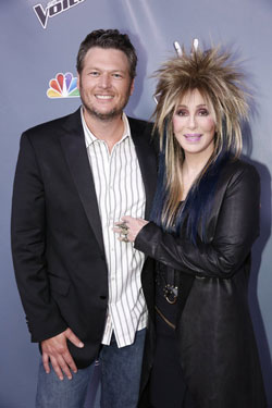 Blake Shelton and Cher at 'The Voice' season 4 finale