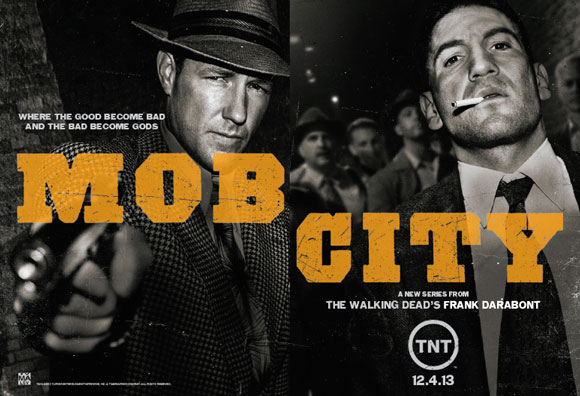 Mob City Season 1 Poster with Ed Burns and Jon Bernthal