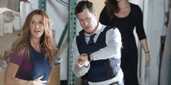 Poppy Montgomery and Dylan Walsh