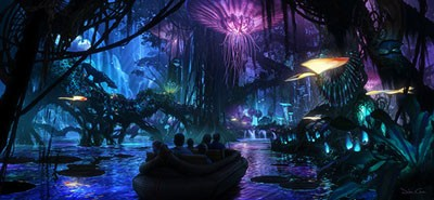 Avatar concept art displayed at D23 Expo in Japan