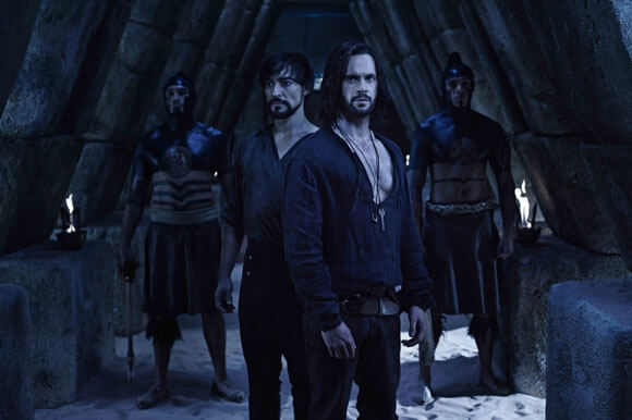 Blake Ritson and Tom Riley in season two of 'Da Vinci's Demons'