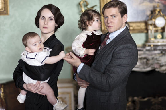 Michelle Dockery as Lady Mary and Allen Leech as Branson in 'Downton Abbey'