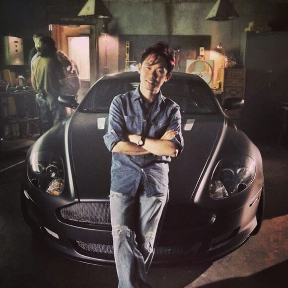 James Wan and the villain car from Fast and Furious 7