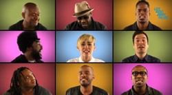 Miley Cyrus, Jimmy Fallon and The Roots Sing We Can't Stop