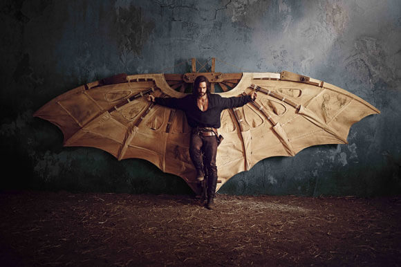 Tom Riley stars as Leonardo da Vinci in 'Da Vinci's Demons'