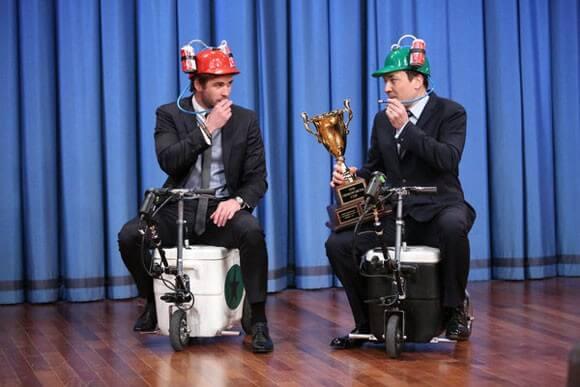 Liam Hemsworth and Jimmy Fallon