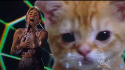 Miley Cyrus and a Kitten Sing Wrecking Ball