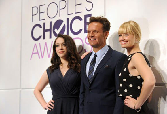 Kat Dennings, Mark Burnett, and Beth Behrs People's Choice Awards