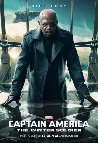 Captain America: The Winter Soldier Samuel L Jackson Poster
