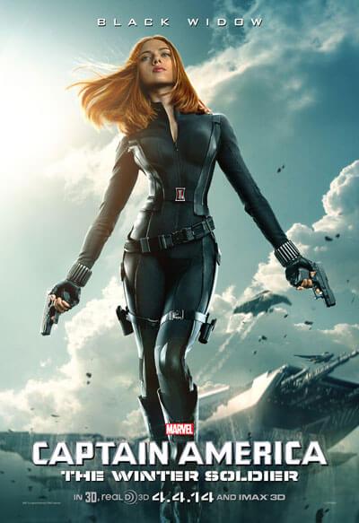 Captain America: The Winter Soldier Scarlett Johansson Poster