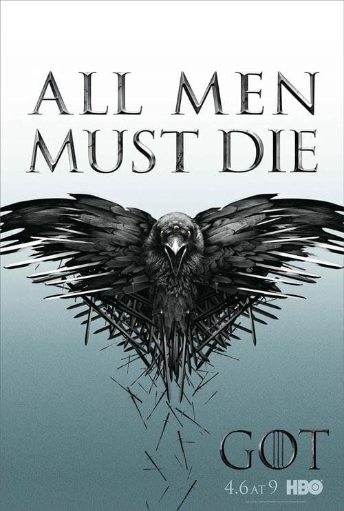 Game of Thrones Season 4 Poster All Men Must Die