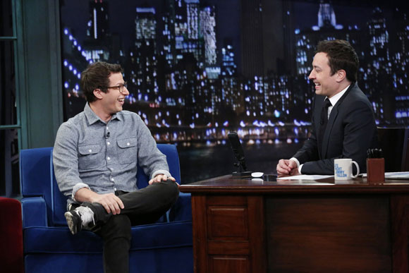 Andy Samberg and Jimmy Fallon Late Night's Final Show