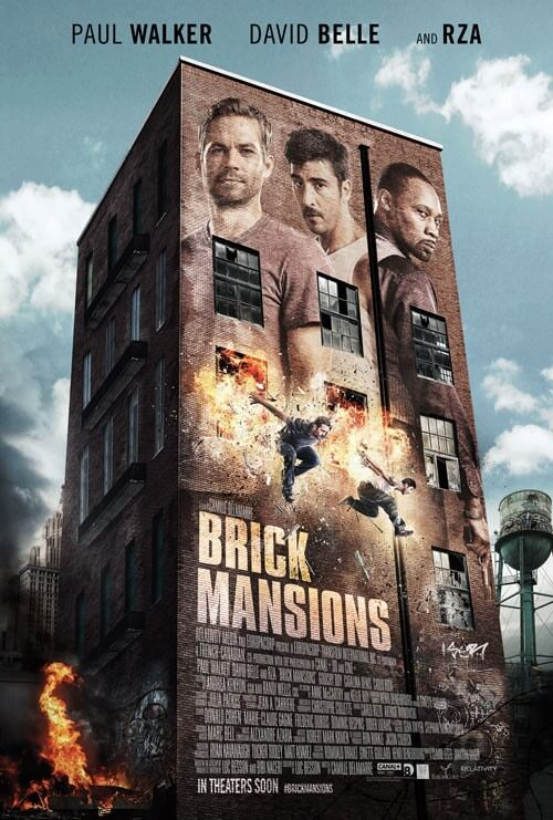 Brick Mansions Movie Poster and Trailer