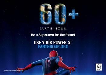 Earth Hour Spider-Man Superhero