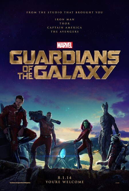 Guardians of the Galaxy Poster and Character Details