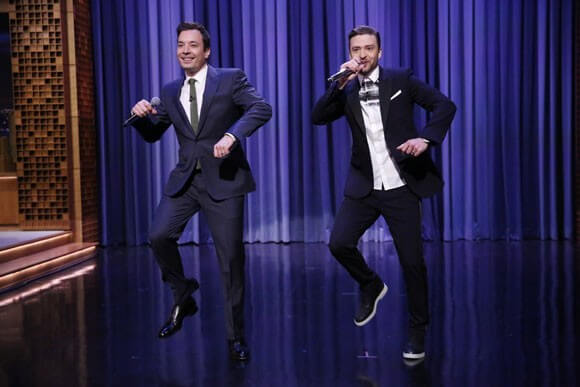 "Jimmy Fallon and singer Justin Timberlake perform ""The History of Rap Part 5"""