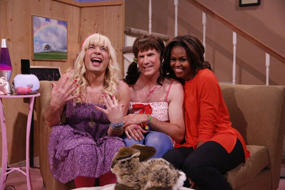 Jimmy Fallon, Will Ferrell, and Michelle Obama on 'The Tonight Show'
