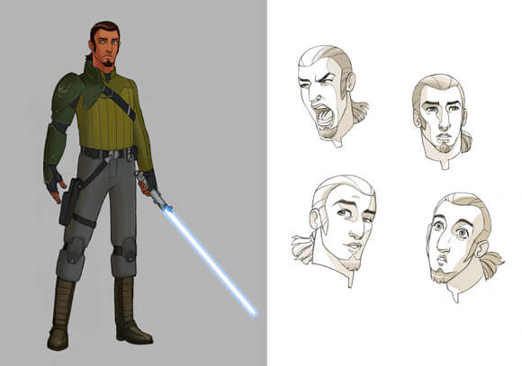 Kanan The Cowboy Jedi in 'Star Wars Rebels' Details