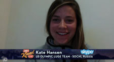 Kate Hansen and Jimmy Kimmel Olympic Wolf Video
