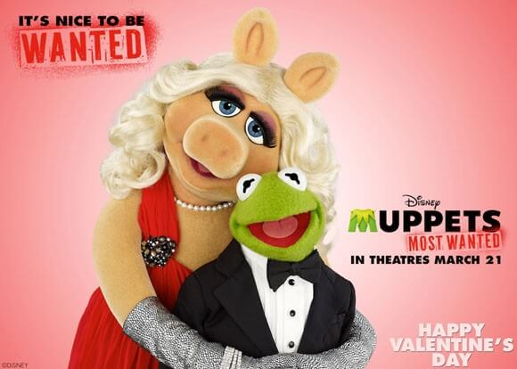 Muppets Most Wanted Valentine's Day Card Greeting