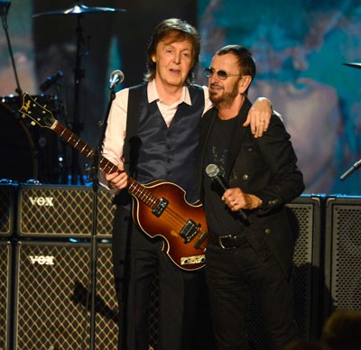 Paul McCartney and Ringo Starr Perform Together