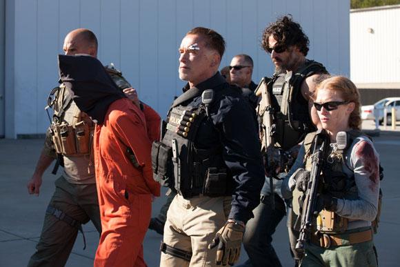 Arnold Schwarzenegger stars in 'Sabotage' Red Band Trailer