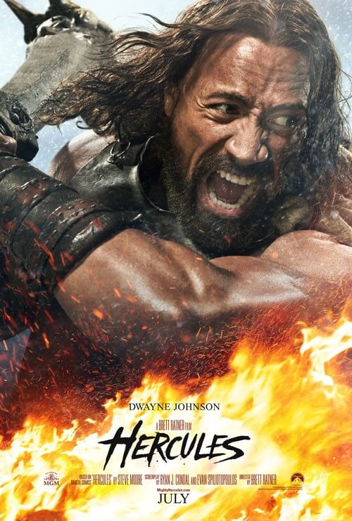 Dwayne Johnson in 'Hercules' poster, photos and trailer