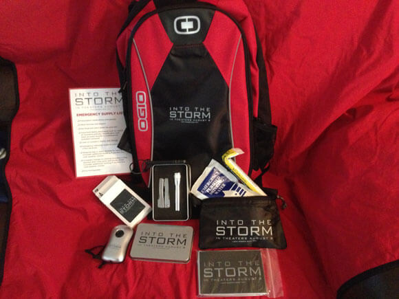 Into the Storm Backpack and Supplies
