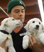 Kristen Bell and Josh Duhamel Support Rescue Waggin'