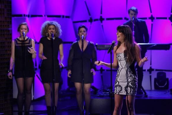 Lea Michele Performs Cannonball