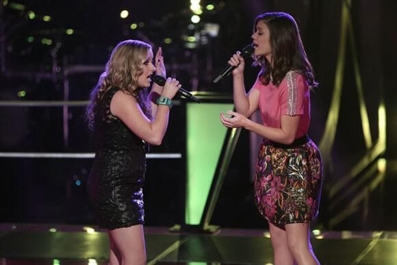 Cary Laine and Sam Behymer on 'The Voice' Sing Give Me Love