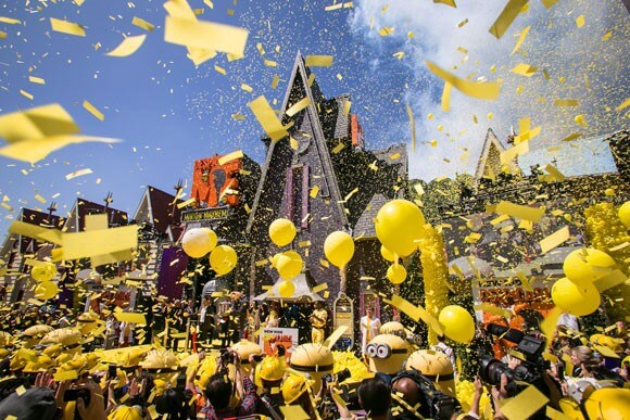 Despicabe Me Minion Mayhem Attraction Launch at Universal Studios Hollywood