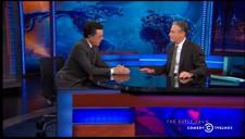 Stephen Colbert tells Jon Stewart he's ending The Colbert Report
