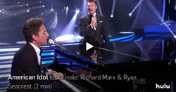 Richard Marx and Ryan Seacrest on American Idol