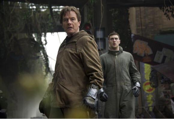 Bryan Cranston and Aaron Taylor Johnson Godzilla Interview