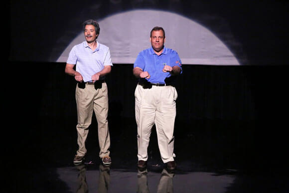 Jimmy Fallon and Chris Christie Evolution of Dad Dancing Skit