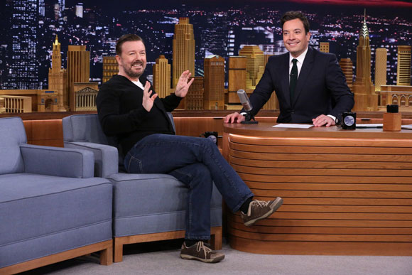 Ricky Gervais and Jimmy Fallon on 'The Tonight Show' Random Words