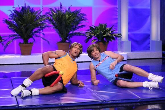 Jimmy Fallon and Dwayne Johnson Workout skit