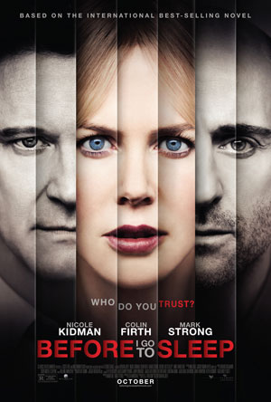 Before I Go to Sleep Poster and Trailer