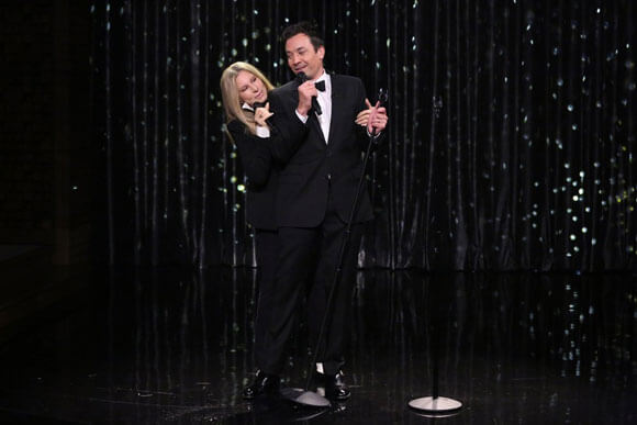 Barbra Streisand and Jimmy Fallon Duet on The Tonight Show