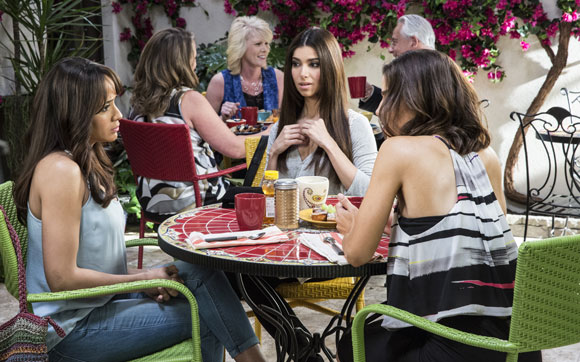 Dania Ramirez, Roselyn Sánchez and Ana Ortiz star in Lifetime's hit series 'Devious Maids' (Photo by Bob Mahoney Copyright 2014)