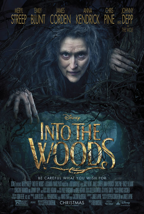 Into the Woods Movie Poster with Meryl Streep