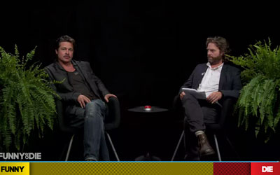 Brad Pitt and Zach Galifianakis on Between Two Ferns