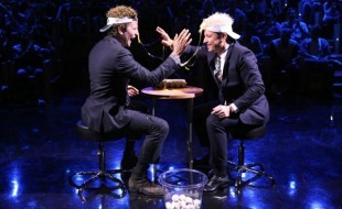Bradley Cooper and Jimmy Fallon Play Egg Roulette