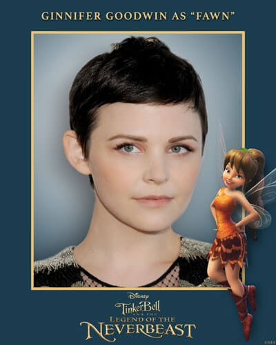 Ginnifer Goodwin Voices Fawn in Tinker Bell and the Legend of the NeverBeast
