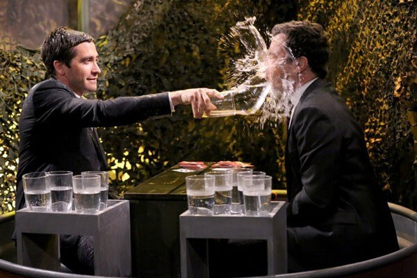 Jake Gyllenhaal and Jimmy Fallon Play Water Wars